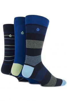 Jeff Banks New Ripon Fine Striped and Plain Cotton Socks £10.00