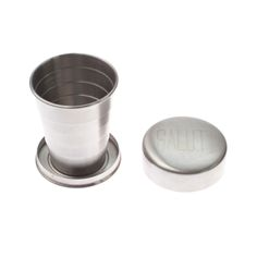 Travel Cup - The 'Salut! Travel Cup' by Izola expands and collapses so that you're never without the perfect drink container. Izola's po. Camping Dishes, Camping Kitchen, Handmade Gifts For Men, Beach Hacks, Little Cup, Travel Cup, Shot Glasses, Bars For Home, Camping Hacks