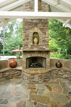 Fireplace - P.O.P.S. Landscaping by Eberly & Collard Public Relations on Flickr.