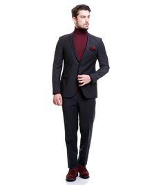Toss Erkek 6 Drop Klasik Takım Elbise - K. Lacivert