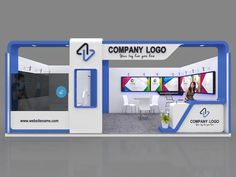 Exhibition stall 3d model 7x4 mtr 1 side open stand 3D model - proarch3d.com Exhibition Stall, Exhibition Stand Design, Flyer Design, Company Logo, Diy, Layout, Model, Tripod, Clock