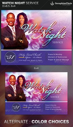 Watch Night Service Church Flyer Template Is Designed For Events Revolving Around The New