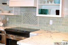 Kitchen Backsplash Reveal   Jenallyson   The Project Girl   Fun Easy Craft  Projects Including Home