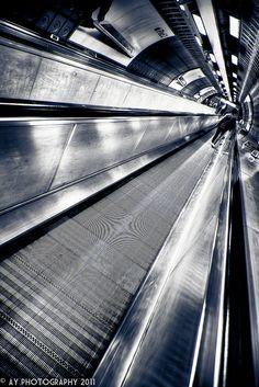 London Underground - Waterloo Underground Station - Jubilee Line Travelator
