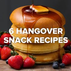 6 Hangover Snack Recipes is part of Hangover food Had a little too much to drink These recipes should fix you right up & - Breakfast Recipes, Snack Recipes, Dessert Recipes, Cooking Recipes, Breakfast Pancakes, Breakfast Casserole, Breakfast Healthy, Bacon Recipes, Bacon Breakfast