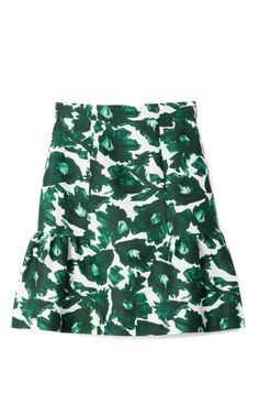 Volta Cotton Sateen Frill Skirt by Mother of Pearl - Moda Operandi