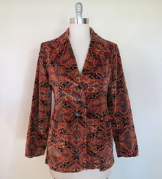 70s velvet jacket size small-medium / vintage velvet jacket / vintage blazer / Marguerite Rubel jacket on Etsy, $45.00