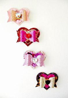 This item is unavailable All Valentine Day, Valentines, Valentine Ideas, Tie Headband, Headbands, Holiday Hair Bows, Heart Hair, Ribbon Sculpture, Hair Raising