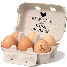 Backyard Chicken Lover Gift - Keep Calm and Raise Chickens Stamp - Chicken Egg Cartons - Chicken Keeper Gift - Chicken Coop Carton Labels by SouthernPaperAndInk on Etsy