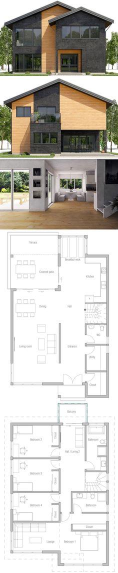 House Plan Home Plan, House Plans, Floor Plans House Plan Home Plan, House Plans, Floor Plans Beautiful House Plans, Dream House Plans, Modern House Plans, Modern House Design, House Floor Plans, Beautiful Homes, Beautiful Beautiful, Modern Architecture House, Architecture Plan