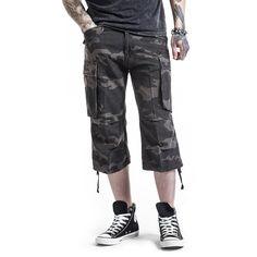 """Pantaloncini modello 3/4 """"3/4 Vintage Shorts"""" della collezione Black Premium by EMP in stile Vintage."""