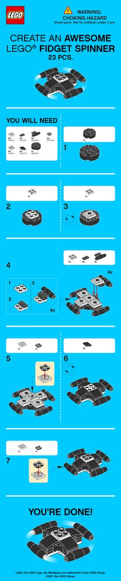 Join the craze and build your very own LEGO Fidget Spinner! Head to LEGO.com to download more Spinner instructions from LEGO Technic http://lego.build/2rp7nqz and LEGO Classic http://lego.build/Class