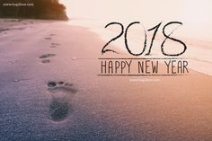 Happy New Year Wallpaper 2018 Sea View