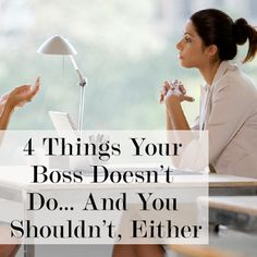 """Not all bosses are created equal... While they'll show you what you should be doing, you can also learn from what they don't do."" @Brazen Edwards Edwards Edwards Edwards Edwards Edwards Edwards Careerist The following article will increase your productivity and establish you as an assertive, forward-thinking professional."