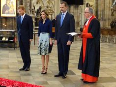The King and Queen of Spain are visiting the Abbey with Prince Harry. 13 July 2017