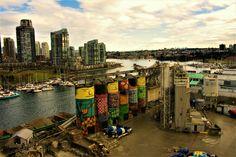 With a view ♡♡♡ on Granville Bridge, Vancouver, British Columbia, Canada