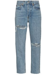 Waist Jeans png Re/Done Stove Pipe 27 High Waist Straight Ripped Jeans - Farfetch Re/Done Stove Pipe 27 High Waist Straight Ripped Jeans - Farfetch High Waisted Black Jeans, High Waist Jeans, High Jeans, Jean Outfits, Fashion Outfits, Designer Jeans For Women, 90s Fashion Grunge, Shoes With Jeans, Business Casual Outfits