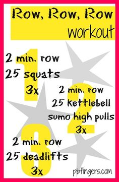 Row, Row, Row Workout with Kettlebell Rower Workout, Gym Workouts, At Home Workouts, Workout Tanks, Workout Gear, Workout Classes, Kickboxing Workout, Kettlebell Training, Workout Kettlebell