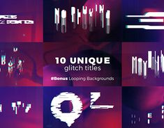 Title Sequence, Working On Myself, Glitch, Motion Graphics, New Work, Adobe, Typography, Behance, Gallery
