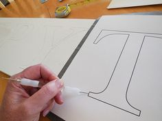 Free Printable Letters & Instructions For Making Farmhouse Style Signs