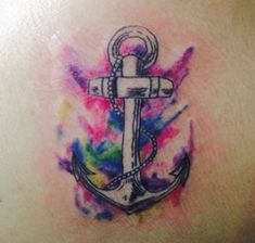 New tattoo watercolor anchor style 49 Ideas - die schönsten Tattoo-Modelle Elephant Tattoos, Baby Tattoos, Trendy Tattoos, Watercolor Tattoo, Anchor Tattoos, New Tattoos, Tattoo Lettering, Matching Couple Tattoos, Anker Tattoo