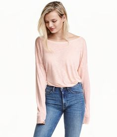 Jersey Top | Powder pink | Ladies | H&M US
