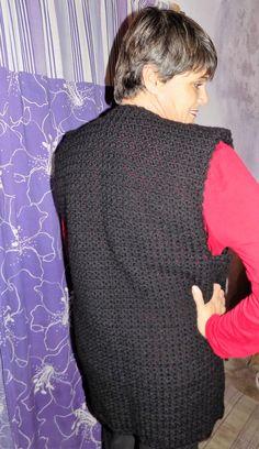 chaleco crochet,en lana