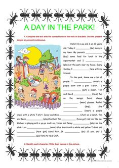 A day in the park - present simple & continuous worksheet - Free ESL printable worksheets made by teachers