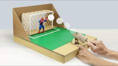 How to Make DESKTOP SOCCER GAME from Cardboard - YouTube