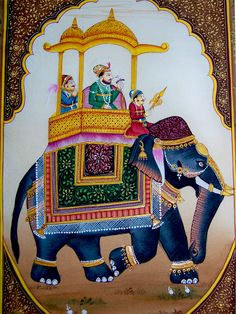 Moghul King Procession Scene on Elephant Miniature Painting painting painting king on elephant Rajasthani Painting, Rajasthani Art, Rajasthani Miniature Paintings, Indian Elephant Art, Colorful Elephant, Mughal Paintings, African Art Paintings, Flower Paintings, Abstract Paintings