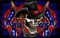 Never Say Die Southern Rebel Cowboy Skull Wall Flag - Click Image to Close Rebel Flag Tattoos, Western Saloon, Southern Heritage, Southern Pride, Southern Humor, Southern Quotes, Southern Living, Confederate States Of America, Skull Art