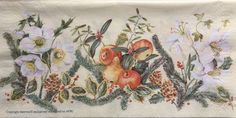 Very rare single(one)Avec napkin X mas flowers&fruit cream for collectie,decoupage,decoupage under glass,scrapbooking and other art door Dalilasdecoupage op Etsy