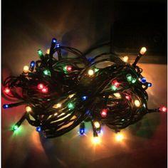 LED osvětlení - Barevné vánoční osvětlení na stromeček - 10m