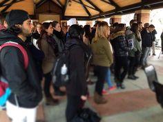 .@LindenwoodU students hold a vigil for #Paris.
