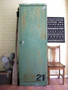 Vintage Four Door Locker (unit Refinished To Natural Steel; 24w X 12d X  75h; 1600.00) | Industrial | Pinterest | Door Locker, Lockers And Doors
