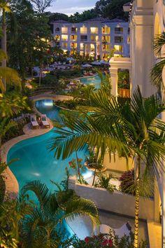 Night views across Sandals Barbados More