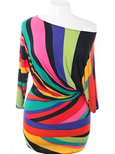 Colorful abstract swirl pattern dress