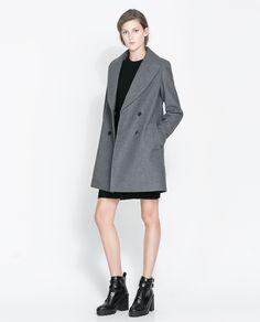 Abrigo gris zara mujer