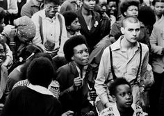 Rock Against Racism: © Syd Shelton / Autograph ABP, Carnival in Southall, London, 1979 --- In 1976 a collective of musicians and political activists came together to form Rock Against Racism (RAR), to promote racial harmony through music. Under the slogan 'Love Music, Hate Racism', it was one of the first organisations that actively showcased reggae and punk bands on the same stage, attracting large multicultural audiences. #racism #rock #london #uk #skinhead #bwphotography #blackandwhite