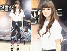 Hailee Steinfeld In Osman and Clover Canyon – 'Ender's Game' Paris Photocall