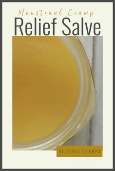 Menstrual Cramp Relief Salve - this stuff is amazing! I use it every month and it helps so much! No more painkillers for my cramps! Holistic Remedies, Herbal Remedies, Natural Remedies, Holistic Wellness, Wellness Tips, Essential Oils For Pain, Green Living Tips, Natural Parenting, Healthy Lifestyle Tips