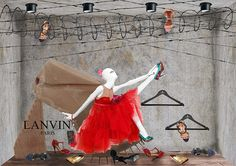 It is a school project to design window displays for a brand that we chose to study and i chose to study Lanvin and designed some window displays for the brand.