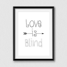 Love is blind. Printable lovely and decorative wall by Cartelmania