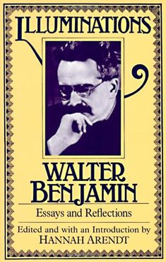 (negativity and transcendence, messianic time, the storyteller) These are the ones to read in this book.... Illuminations: Essays and Reflections by Walter Benjamin,http://www.amazon.com/dp/0805202412/ref=cm_sw_r_pi_dp_-d7lsb02MM4W0CCN