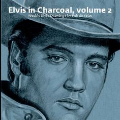 """This is the second volume in the """"Elvis in Charcoal"""" series.  In this book you'll find all the weekly Elvis drawings Rob de Vries made in 2014 and 2015."""