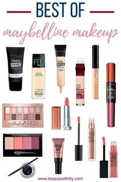 Best Maybelline Products // The Best of Maybelline // Affordable Drugstore Makeup - Beauty With Lily, A West Texas Beauty, Fashion Kylie Jenner Makeup Set, Look Kylie Jenner, Drugstore Makeup Dupes, Makeup Brands, Best Makeup Products, Beauty Products, Make Up Kits, Makeup Guide, Makeup Tools