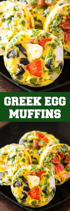 Greek Egg Muffins are the perfect delicious and healthy make ahead breakfast! Greek Egg Muffins are the perfect delicious and healthy make ahead breakfast! Healthy Make Ahead Breakfast, Nutritious Breakfast, Healthy Breakfast Smoothies, Breakfast Muffins, Low Carb Breakfast, Breakfast Ideas, Breakfast Buffet, Brunch Ideas, Healthy Egg Muffins