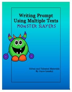 Writing Prompt Using Multiple Texts - Monster Slayer. Students must read about heroes from Greek Mythology and choose one to kill the Hydra in Heracles's absence.