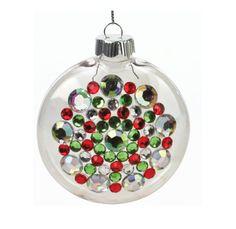 Nicole™ Crafts Rhinestone Disc Ornament #ornaments #craft #christmas
