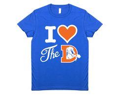 I Heart the Denver Broncos Women's T-Shirt